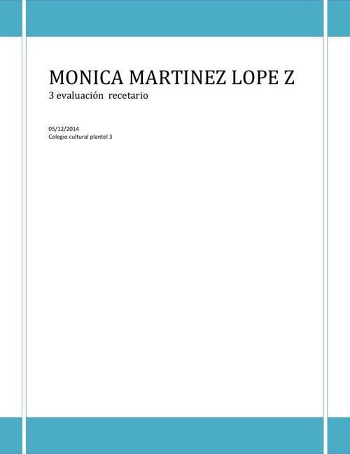 Monica Martinez Lopez  2A
