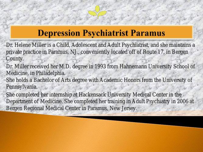 Depression Psychiatrist Paramus