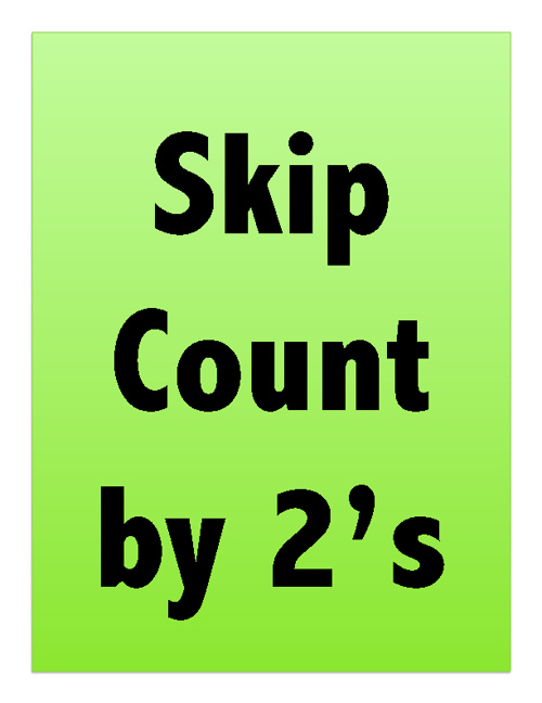 Skip Count by 2's