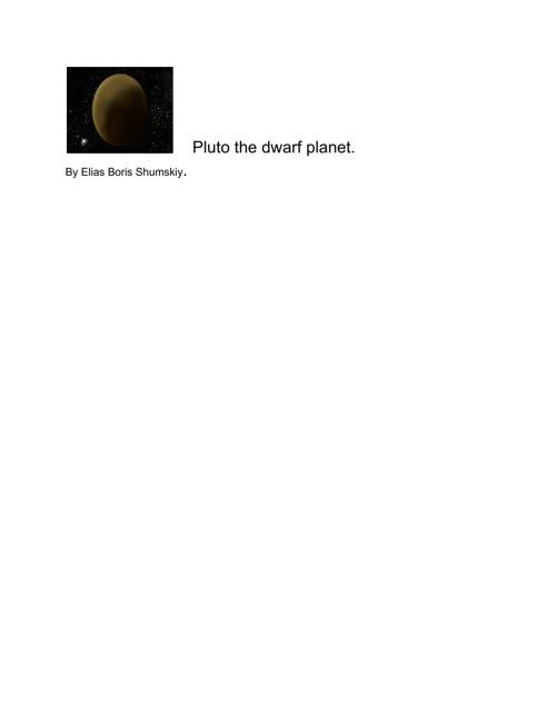 plutothedwarfplanet