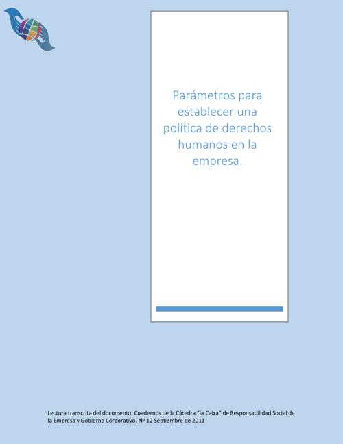 005 Mod. 3 Parámetros para establecer una política de derechos h