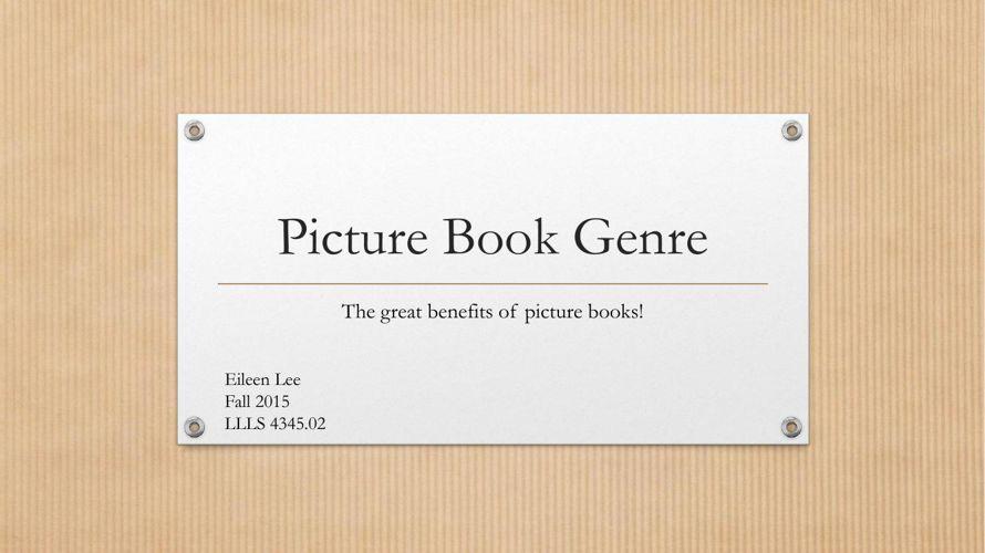 Picture Book Genre Final