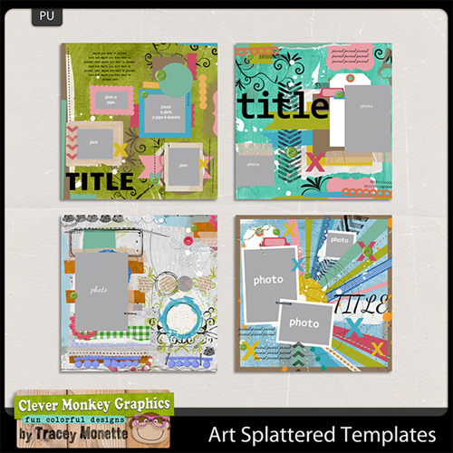 Art Splattered Templates by Clever Monkey Graphics