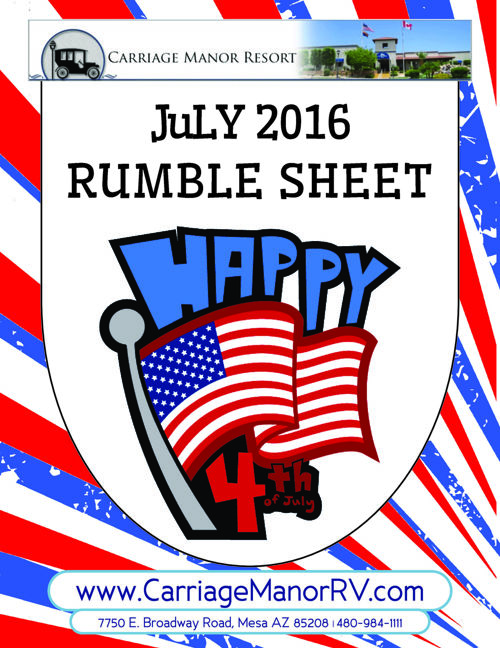 July 2016 Rumble Sheet