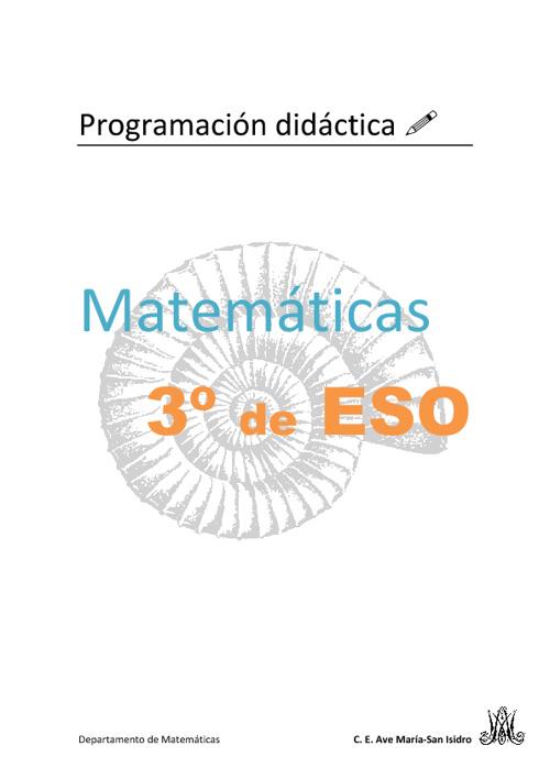 Programación de Matemáticas 3º de ESO