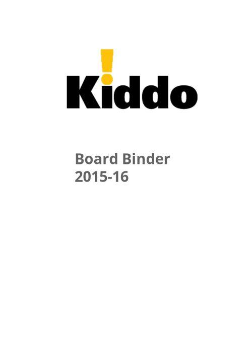 Kiddo BB 15-16