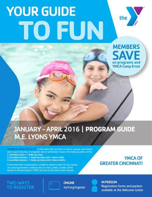 M.E. Lyons YMCA Winter 2016 Program Guide
