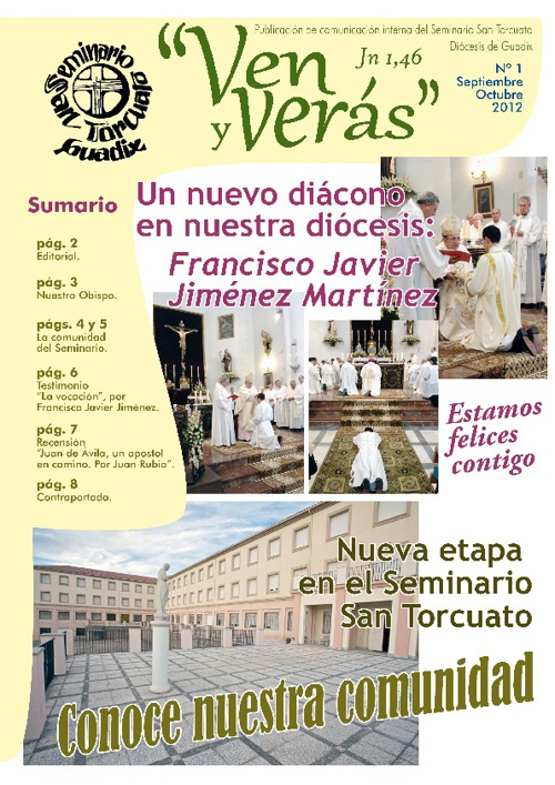 Revista «Ven y verás» del Seminario San Torcuato nº1
