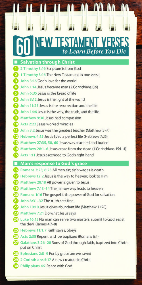 60 New Testament Verses to Learn Before You Die (Bookmark-0041)