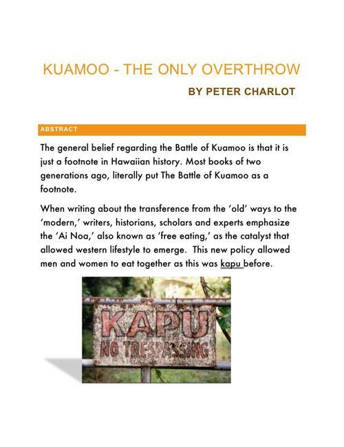 Kuamoo - The Last Overthrow