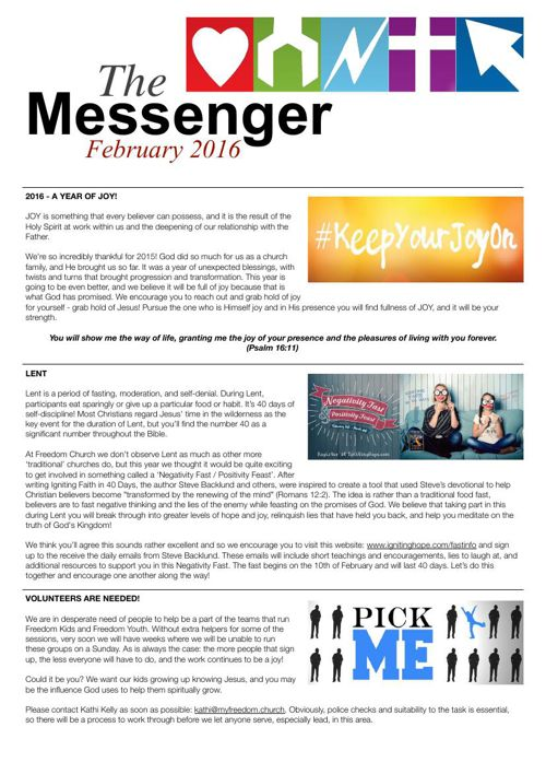 The Messenger - February 2016