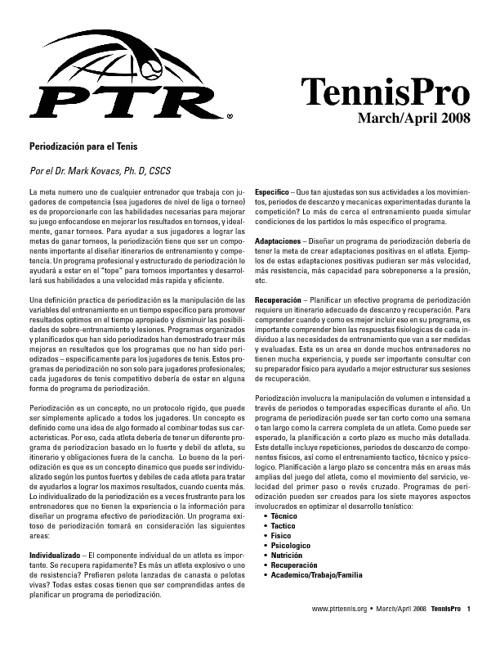 tenis ptr