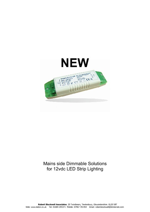 Mains Dimmable LED Strip Drivers