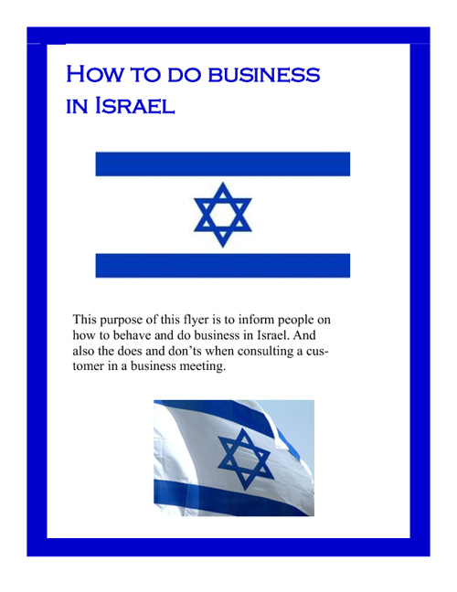 How To Do Business In Israel