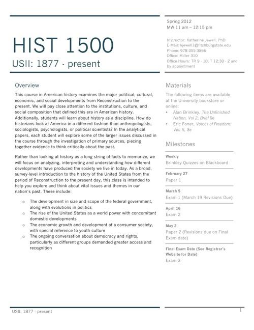 HIST1500 Spring 2012