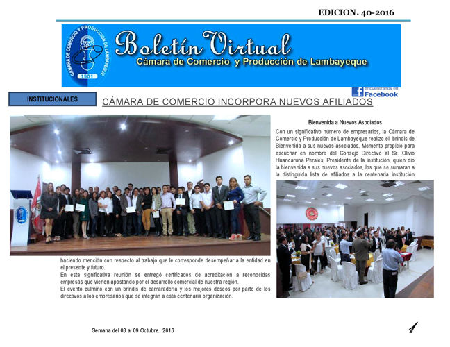 BOLETIN VIRTUAL CAMARA DE COMERCIO