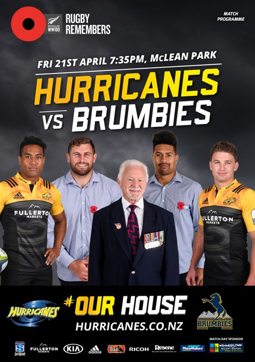 Hurricanes v Brumbies official match programme