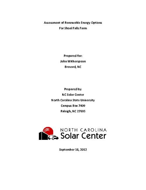 Shoal Falls Farm Solar Assessment