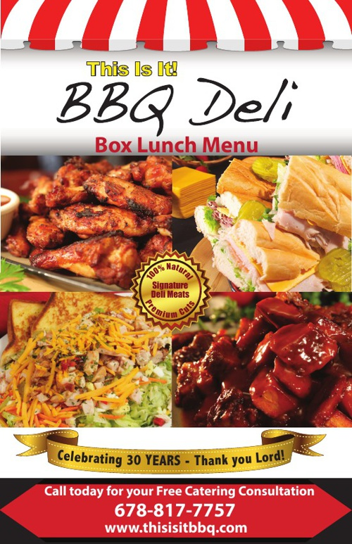 This Is It! BBQ Deli Menu
