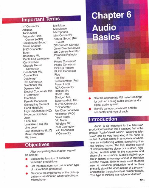Chapter 6 Audio Basics Part 1