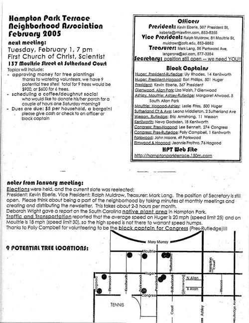 HPT Newsletter February 2005