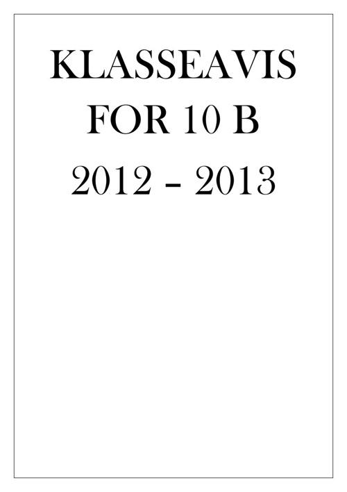 Klasseavis for 10B ved OBUS