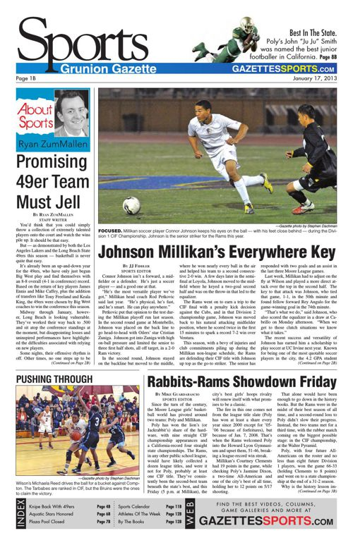 Gazette Sports   January 17, 2013
