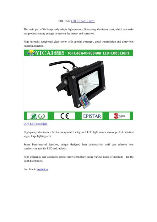 60W RGB LED Flood light