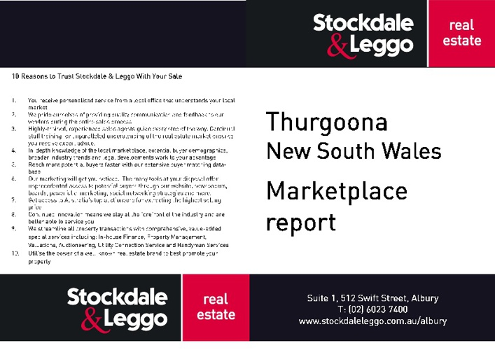Thurgoona Marketplace Report 01 July 2012 - 30 September 2012