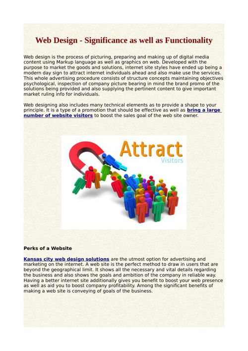 Web Design - Significance as well as Functionality