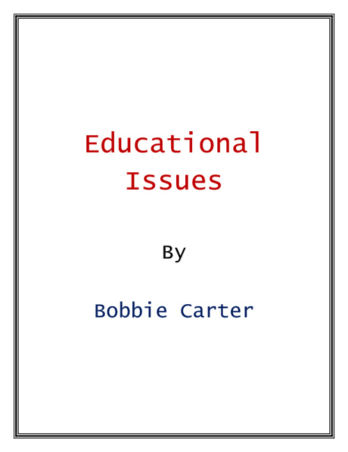 Education issues Presentation