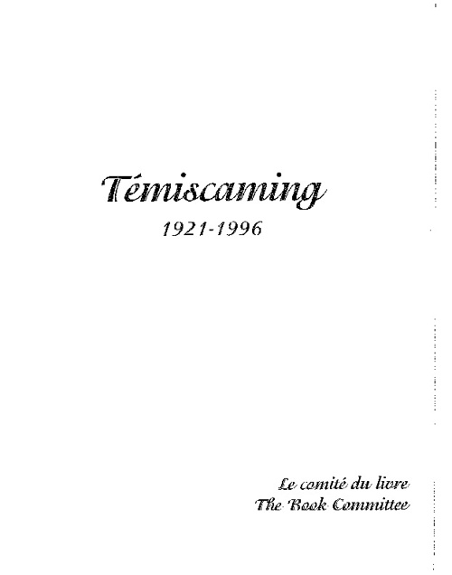 Temiscaming 75th Anniversary