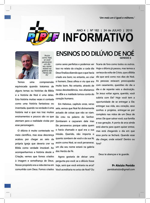 INFORMATIVO PIBJF 24.07.2016