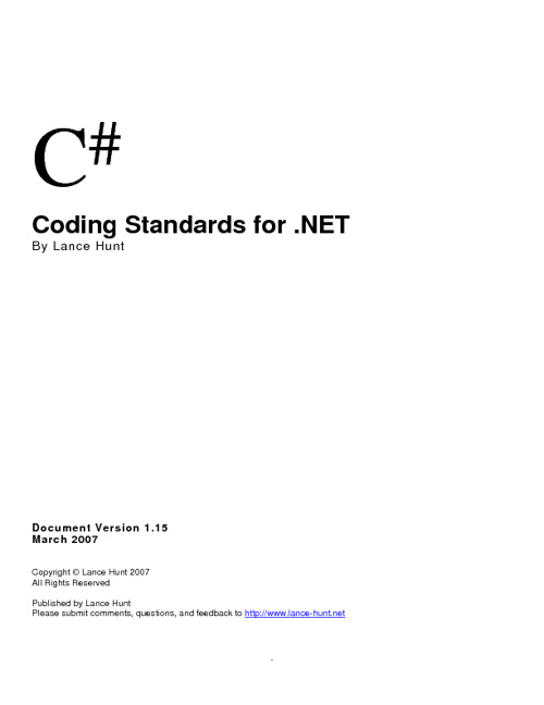 C SHARP CODING GUIDELINES