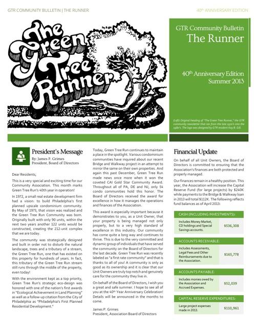 GTR Summer 2013 Newsletter