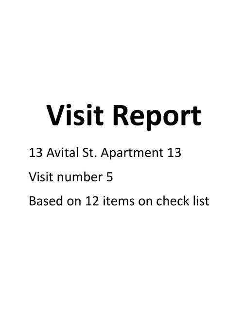Avital 13 visit 5
