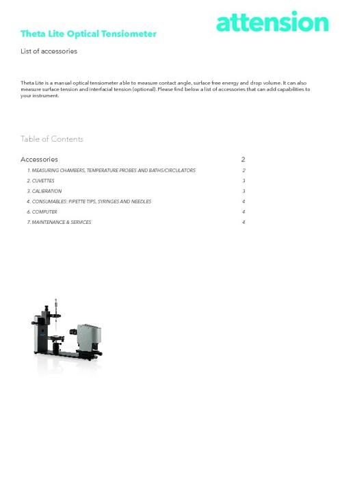Attension Theta Lite Accessories