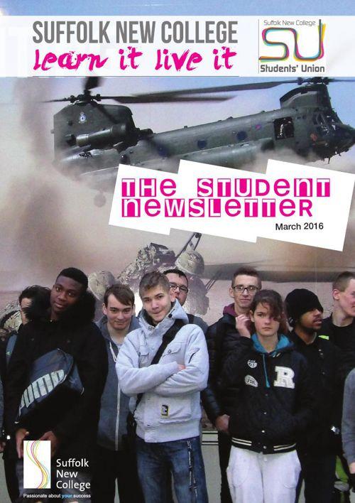 Suffolk New College - SU Newsletter