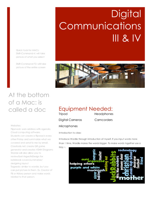 Digital Communication Workshop III & IV