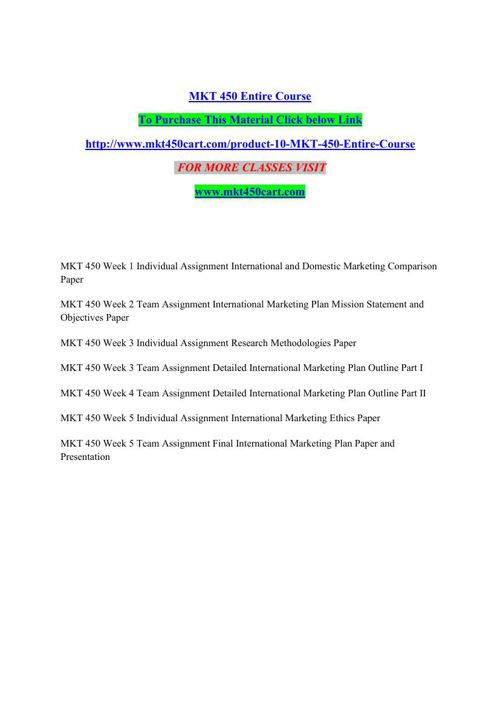 MKT 450 CART Quest For Excellence/mkt450cartdotcom