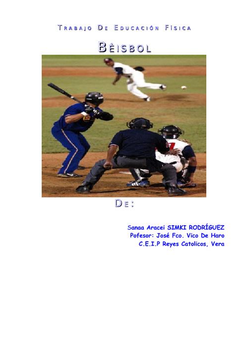 Educación Física: Béisbol