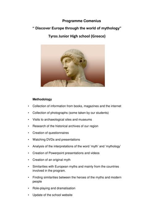Discover Europe trough the world of mythology