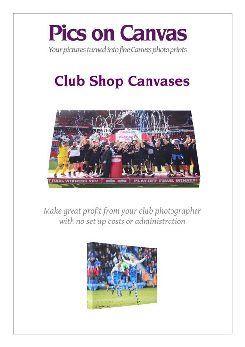 Football Main Brochure - Pics on Canvas