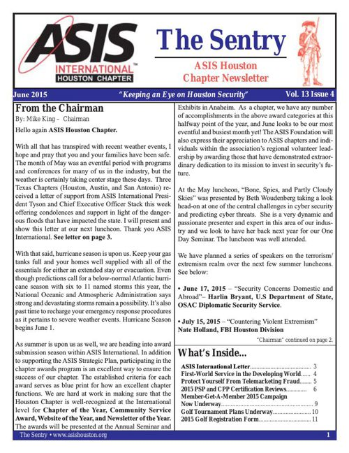 ASIS News June 2015