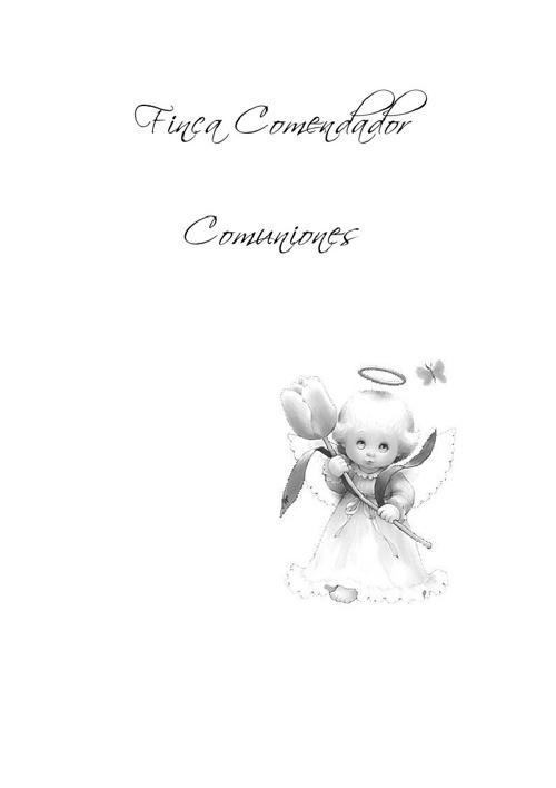 Copy of Menús de comunión