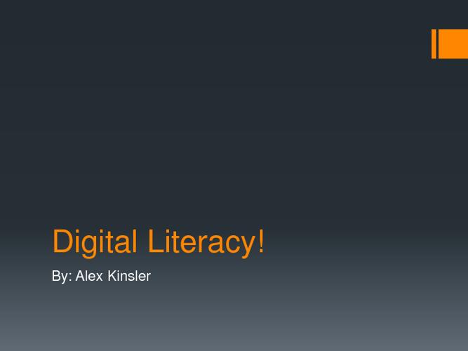 Digital Literacy!