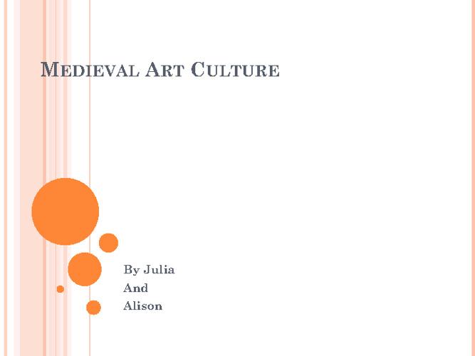 Medieval Art Culture