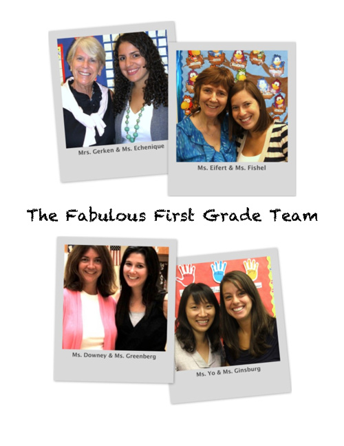 The Fabulous First Grade Team