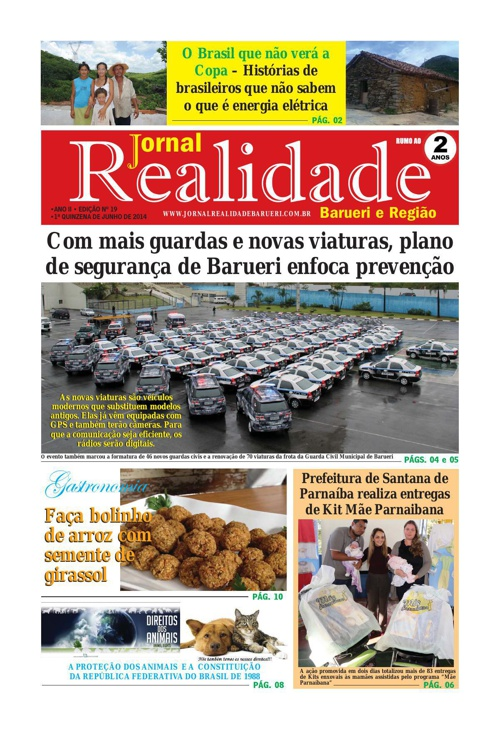 JORNAL REALIDADE BARUERI 19ª EDIÇÃO