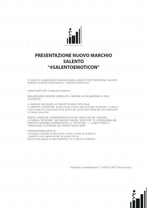 Design marchio abbigliamento Salento - #salentoemoticon